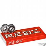 "BONES ""Bearings - Super Reds"" Skateboard BEARINGS 608  Sets of 8"